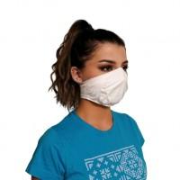 Ochranné rúško elastické antibakteriálne antivirálne biele
