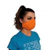 Ochranné rúško elastické antibakteriálne antivirálne oranžové