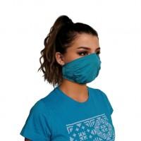 Ochranné rúško elastické antibakteriálne antivirálne tyrkysové